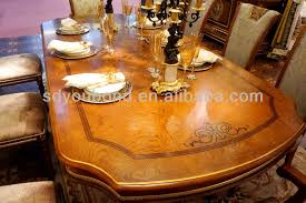 0062 european classic dining room table design oval wooden dining