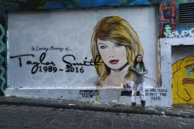 rip taylor swift mural appears after feud with kim and kanye mural appears after feud with kim and kanye