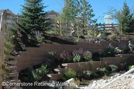 Retaining Wall Ideas For Sloped Backyard Residential Landscape Retaining Wall Construction And Paver