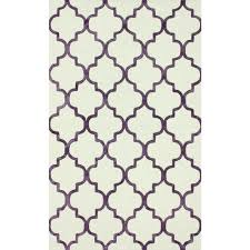 luna trellis shag ivory 6 ft 7 in x 9 ft area rug by home