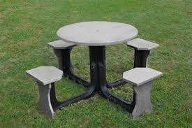 round plastic picnic table small round grey recycled plastic picnic table schools hospitals