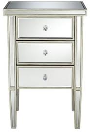 mirrored bedside table image of mirrored bedside table with