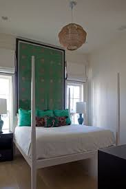 curved headboard four poster bedroom contemporary with four poster