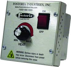 wall mounted heat lamp fostoria vhc 32 variable 208 240 volt controller