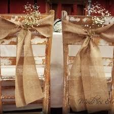Rustic Wedding Decorations For Sale Burlap Chair Sash U2013 Bazaraurorita Com