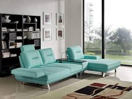 Fabric Sectional Sofa 3 Piece Contempo Adjustable Backrest Seafoam Fabric Sectional Sofa