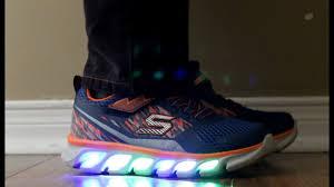skechers led light up shoes skechers s lights youtube