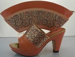 italien design schuhe neue design hochzeit schuhe und tasche high heels pfirsich farbe