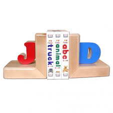 personalized bookends baby bookends primary colors damhorst toys puzzles inc store