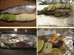 cuisiner truite enti鑽e la cuisine de sylvie truite au four en papillote