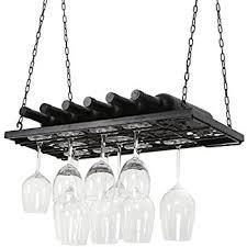 amazon com hanging mahogany wine glass rack