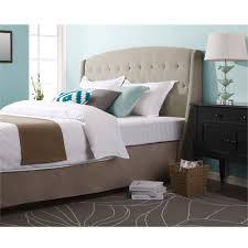 bedroom designs tan tufted wingback headboard button diamond diy