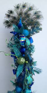 peacock christmas tree topper 4749