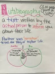 biography an autobiography difference awesome autobiographies in the upper grades anchor charts chart