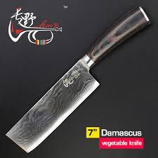 couteau de cuisine chinois 7 pouce couteaux à légumes chinois damas cuisine couteau qualité