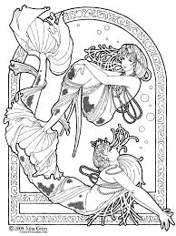 fantasy coloring pages mermaid coloringstar