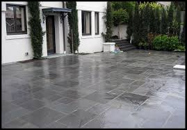 Slate Rock Patio by Rich Masonry Patio