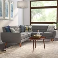 mid century modern sofa with chaise felicity sectional wayfair