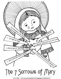 easy to color u2013 immaculate heart coloring pages