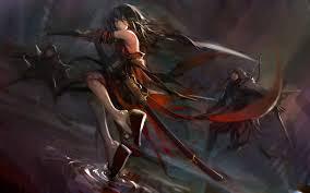 anime wallpapers girls sword fighting wallpaper anime girls katana original characters demon archer