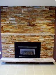 fireplace with stone the amazing stacked stone fireplace with small black electric gas fireplace without mantel as well as white white marble as based floors front fireplace