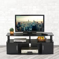 Entertainment Center Design by Furinno Jaya Blackwood Storage Entertainment Center 15113bkw The