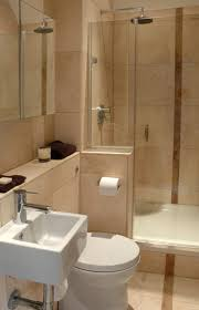 Blue And Brown Bathroom by Bathroom Tasteful Small Bathroom Tile Composition Glamorous Nice