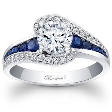 swirl engagement ring barkev s 14k white gold and blue sapphire halo swirl ring
