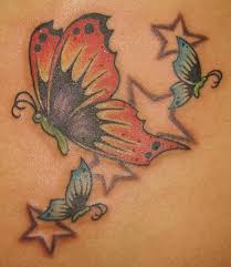 25 exotic butterfly and star tattoos