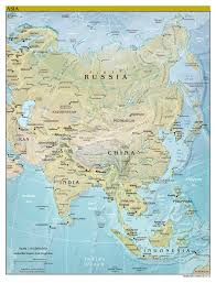 Political Map Asia by Large Scale Political Map Of Asia With Relief Major Cities And