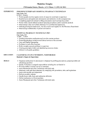 pharmacy technician resume exles hospital pharmacy technician resume sles velvet