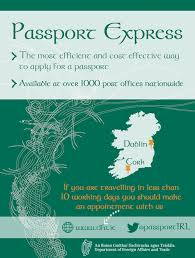 what is the best way to get an irish passport department of