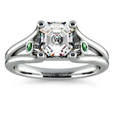 style guide engagement rings with emeralds and art deco flair