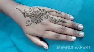 easy small and beautiful mehndi design patch or