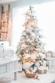 white christmas trees blush pink vintage inspired tree blush pink kara and christmas tree