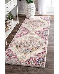 Pink Runner Rug Deal Alert Nuloom Transitional Medallion Centerpiece Pink Runner
