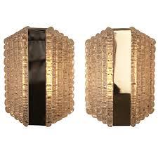 Modern Wall Sconces Pair Of Glass Wall Sconces By Kaiser Leuchten Modern Wall Wall