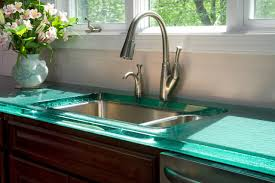 beautiful glass countertops feature white stained wooden bathroom lovable glass countertops with brown stained wooden kitchen cabinet with clear thick glass countertop and white