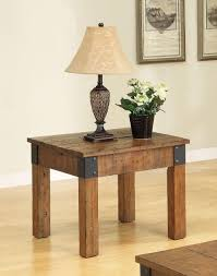 end tables designs rustic country end table square shape wooden