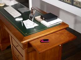 bureau louis philippe merisier bureau ministre 9 tiroirs en merisier massif de style louis