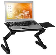 Adjustable Height Laptop Stand For Desk by Ambidextrous Adjustable Laptop Tray With Cooling Fan And Removable