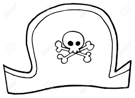 outlined pirate hat royalty free cliparts vectors and stock