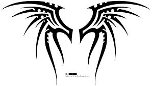 butterfly tribal wings designs