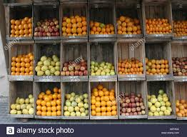 fruit boxes pattern boxes of fruit in market montevideo stock photo 5701209