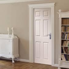 corniche primed 6 panel door with wood grain effect