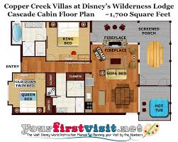 disney floor plans theming and accommodations at copper creek villas at disney u0027s