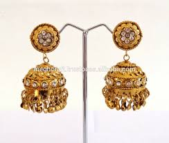 punjabi jhumka earrings style jhumka earring antique gold plated jhumka earring