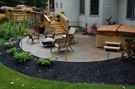 Landscape Deck Patio Designer Decks And Patios This Deck Leads To A Sted