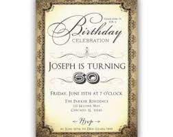 60th birthday invitations for men etsy