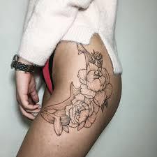 the 81 most gorgeous blackwork flower tattoos tattoomagz